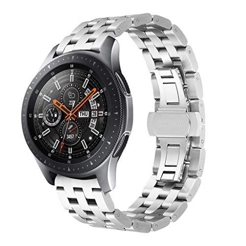 Todidaf 46mm/42mm cinturino di ricambio cinturino per orologio da polso in acciaio inossidabile per samsung galaxy watch cinturini di ricambio accessori per smartwatches (silver, 46mm)