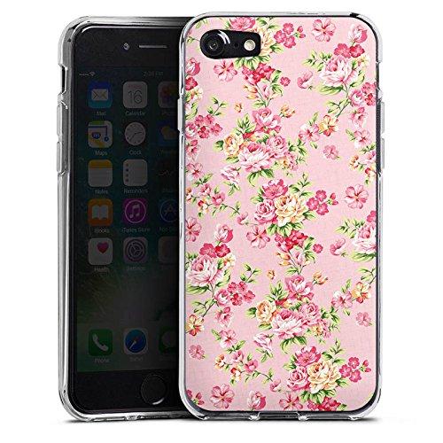 Apple iPhone X Silikon Hülle Case Schutzhülle Rosen Frühling Blumen Silikon Case transparent