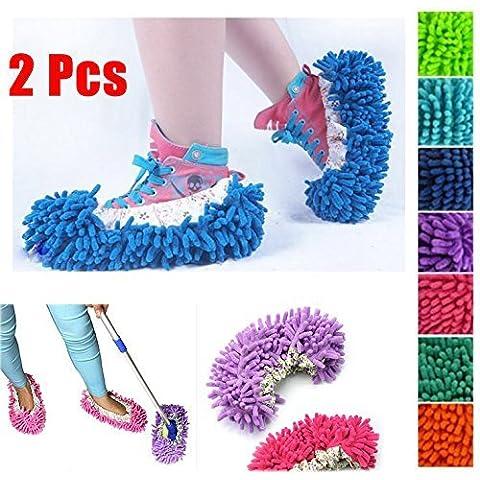 Andonger 2 x Cleaner Mop Slipper Governante Piano lucidatura copertura Spolverare di pulizia del piede del pattino