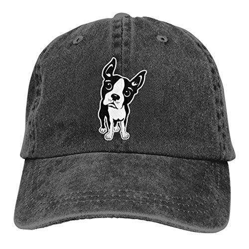 Baseballkappe Sport-Mütze Boston Terrier Dog Men's Women's Adjustable Jeans Baseball Hat Yarn-Dyed Denim Hip-hop Cap Sports Cool Youth Golf Ball Unisex Cowboy hat fedora beach hiking skull 3D Printin
