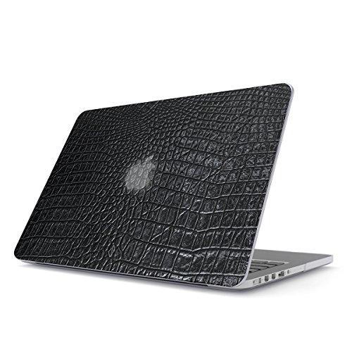 BURGA Hülle Kompatibel Für MacBook Pro 13 Zoll Aus Den Jahren 2012-2015, Modell: A1502, A1425 Retina Display Schwarz Leder Leather Skin Plastik Case (Pro Computer Macbook Skins)