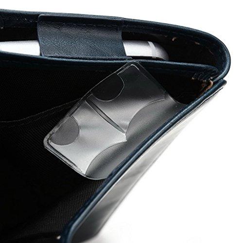 Kroo Portefeuille unisexe avec protection d'écran Gionee Elife E7Mini/Pioneer P4universel compatible avec différentes couleurs disponibles avec affichage écran Bleu - bleu Bleu - bleu
