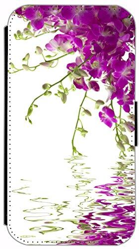 Kuna Flip Cover für Apple iPhone 5 / 5s Design K134 Zebra Hülle aus Kunst-Leder Handy Tasche Etui mit Kreditkartenfächern Schutzhülle Case Wallet Buchflip Rückseite Schwarz Vorderseite Bedruckt mit Bi K147