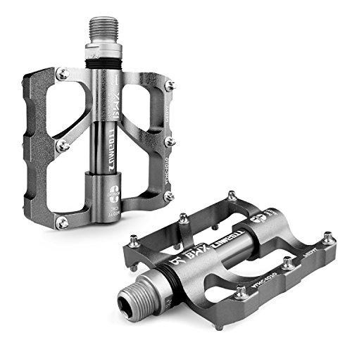 Pedales SUMGOTT Pedales de bicicleta Mtb Ultralight 3 rodamientos sellados Pedales planos CNC de nivel Racing …