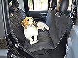 Wasserdicht Hund Auto Sitzbezüge, langlebig waschbar rutschfeste Unterseite Pet Hängematte Fond-Protektor Pad Matte für Auto 147,3x 137,2cm (schwarz)