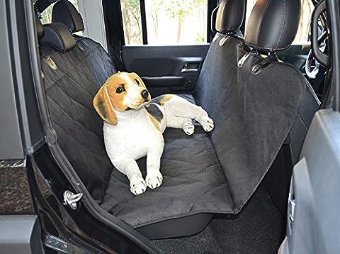 Wasserdicht Hund Auto Sitzbezüge, langlebig waschbar rutschfeste Unterseite Pet Hängematte Fond-Protektor Pad Matte für Auto 147,3x 137,2cm (schwarz & # xff09;