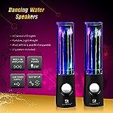 Led-Speakers-SoundSOUL-Water-Fountain-Speakers-Mini-amplifier-USB-Dancing-Speakers-Best-Music-Gifts-for-PCMacMP3-PlayersMobile-PhonesTablets-Dark-Black