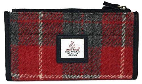 Damen Traditionelle Harris Tweed und Leder Lange Geldbörse Wahl der Farben