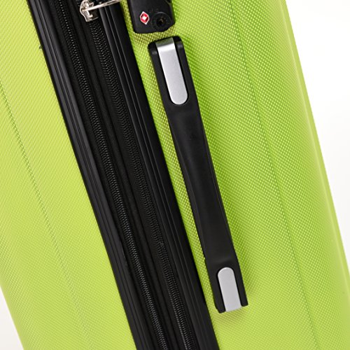 BEIBYE TSA-Schloß 2080 Hangepäck Zwillingsrollen neu Reisekoffer Koffer Trolley Hartschale Set-XL-L-M(Boardcase) in 12 Farben (Grün, 3tlg. Kofferset) - 6