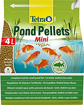 Tetra Pond Pellets Mini Complete Fish Food for Pond Fish, 4 Litre