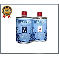 RESINA EPOSSIDICA TRASPARENTE GR 800 BICOMPONENTE A+B - SUPER TRASPARENTE EFFETTO ACQUA per creazioni trasparente - RESINA per gioielli - resina per creazioni stampi - BESTSELLER da RESIN PRO (800 GR)