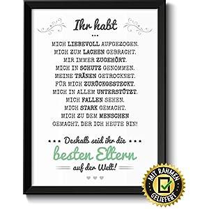 Beste Eltern Bild im schwarzem Holz-Rahmen Muttertagsgeschenk Vatertagsgeschenk Geschenke Geschenkideen Muttertag…