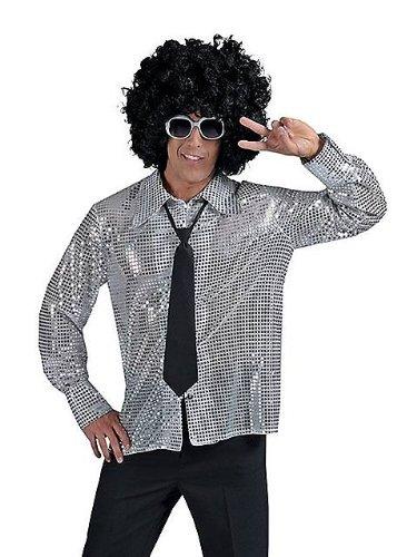 D SILBER 56 58 (Erwachsenen Die Ganze Nacht Party Kostüme Perücke)