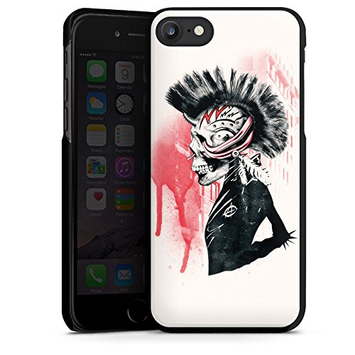 Apple iPhone X Silikon Hülle Case Schutzhülle Punk Totenkopf Skull Hard Case schwarz