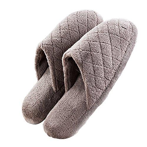 Adulte Unisexe hiver chaud et doux maison chaussons coton Chaussures par V. point-coffee COFFEE 3