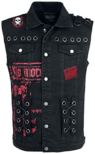 Rock Rebel by EMP Lilium Wings Vest Gilet nero Nero