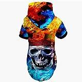 Haustier Kleidung Hip-Hop Lustige 3D Gedruckt Schädel Header Stil Hoodies Sweatershirts Warme Outdoor Hund Jacken