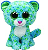 TY - Peluche leopardo, 15 cm, color azul (United Labels 36742TY)
