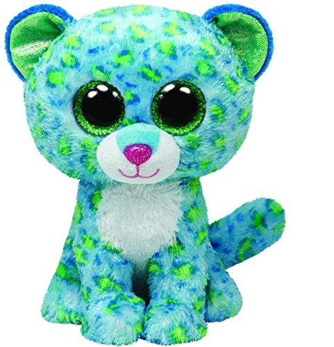 Preisvergleich Produktbild TY 36742 - Leona - Leopard mit Glitzeraugen, 15 cm, blau/grün