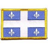 Écusson brodé Flag Patch Canada Quebec - 8 x 6 cm