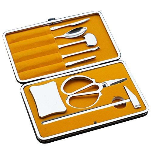 Krabbe Hummer Cracker Opener Tools Kit Nussknacker Küchengerät mit Aufbewahrungskoffer (Nussknacker-kit)