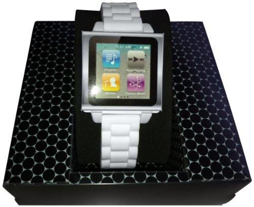 hex-hx1146-whte-vision-plastic-cinturino-in-plastica-per-ipod-nano-6-bianco