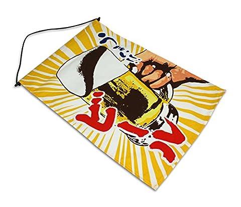 Japanese Noren Curtain Restaurant Banner, Flag - Beer