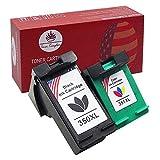 Toner Kingdom 2 Pacchetto Compatibile HP 350XL 351XL Cartucce d'inchiostro per HP Photosmart C4280 C4380 C4480 C4580 C5280 Deskjet D4200 D4263 D4360 Officejet J6450 J5785 J6415 Stampante (1 nero,1 Colore)