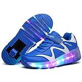 ❤❤❤Laufschuhe Sportschuhe Kinder Skateboard Schuhe Kinderschuhe mit Rollen LED Skate Schuhe Trainer Sneakers Rollen Schuhe für Junge Mädchen❤❤❤
