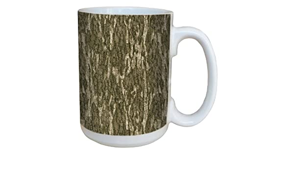 Tree-Free Greetings 79610 Bottomland Pattern by Mossy Oak Camo 15-Ounce Ceramic Mug with Full-Sized Handle Multicolored