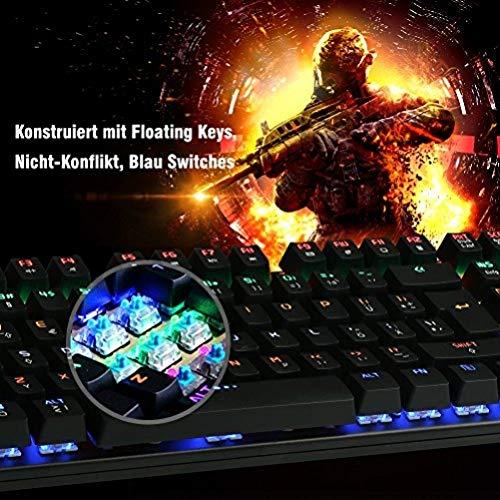 Mechanische Gaming Tastatur, DBPOWER USB Kabel LED Beleuchtet Spiele Keyboard