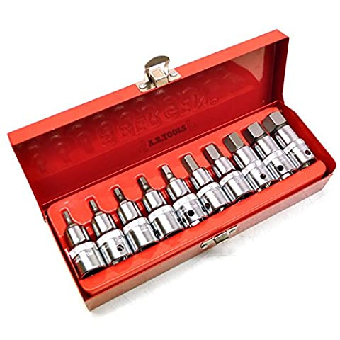 1/2 drive Hex / Allen key bit socket set metric