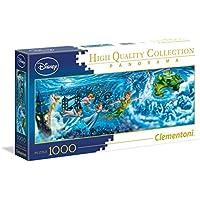 Clementoni - Disney Panorama Collection Peter Pan Puzzle Night Flights, 1000 Pezzi, 39448
