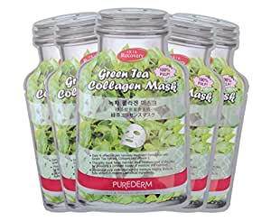 PUREDERM Green Tea Collagen Mask - Pack of 5