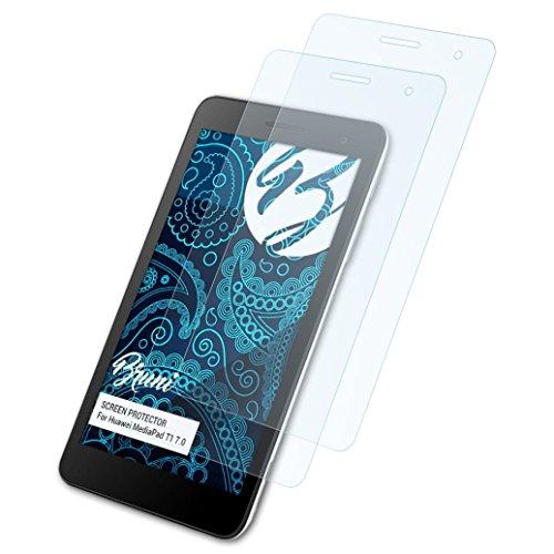 Bruni Schutzfolie für Huawei MediaPad T1 7.0 Folie, glasklare Bildschirmschutzfolie (2X)
