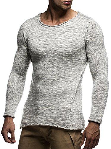 LEIF NELSON - Maglione da uomo, Pullover, LN20709 Grau
