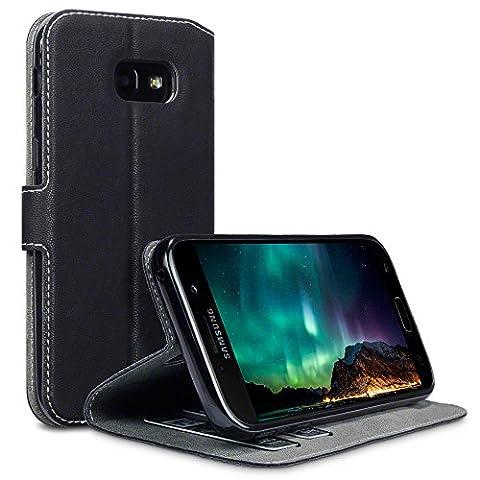 Coque Cuir Galaxy A5 2017, Terrapin Étui Housse en Cuir