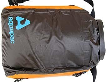 AQUAPAC gepolsterte wasserdichte Trockentasche, schwarz-orange, 420x310x90mm, 8 liters, 025