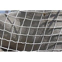 Filet de protection universel Kingt Filet de sécurité en nylon pour balcons, terrasses, portes et fenêtres blanc 2m x 3m