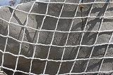 Kingt Universal Schutznetz Abdecknetz Sicherheitsnetz aus Nylon für Balkone, Terrassen, Türen und Fenster weiß