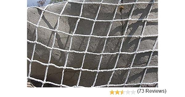 Filet de protection universel Kingt Filet de s/écurit/é en nylon pour balcons terrasses portes et fen/êtres blanc 2m x 3m