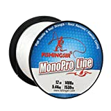Best Monofilament Lines - FISHINGSIR 10 LB Monofilament Fishing Line Clear, High Review