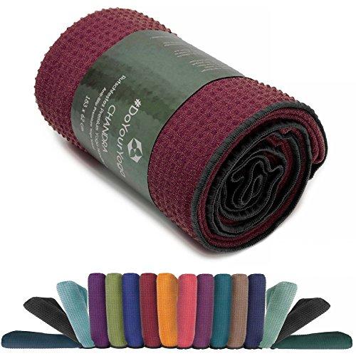 Manta para yoga »Chandra« / La manta para yoga pensada para Hot Yoga / complemento para ejercicios de yoga y para la relajación posterior / 183 x 61 cm, disponible en muchos colores / rojo