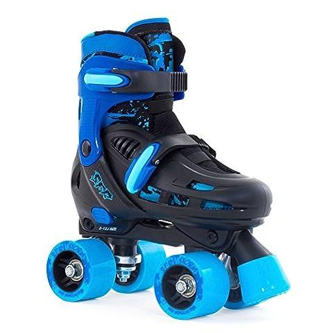 SFR Storm II Quads verstellbare Rollschuhe Kinder schwarz-blau blue, 35.5-39.5