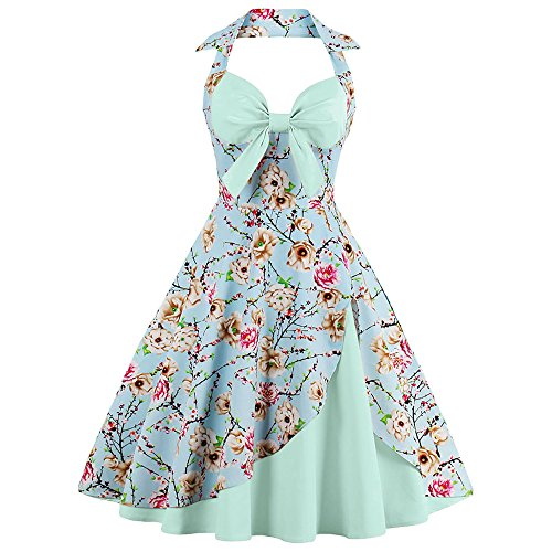 CharMma-Womens-Vintage-Halter-Rockabilly-Swing-Floral-Print-Tea-Cocktail-Dress-XX-Large-Light-Green