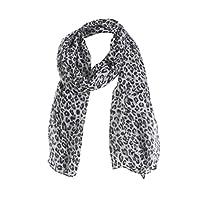 Webla Women Ladies Leopard Printing Long Scarf Warm Wrap Shawl Soft Scarves (Black)