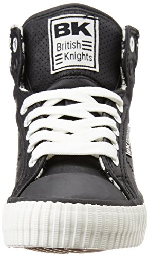 British Knights Unisex-Kinder Atoll High-Top Schwarz (black/white houndstooth 02)