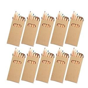 eBuyGB - Lápices para colorear, ideal para bolsas de fiesta para niños y juguetes de regalo para bodas, paquete de 50 unidades