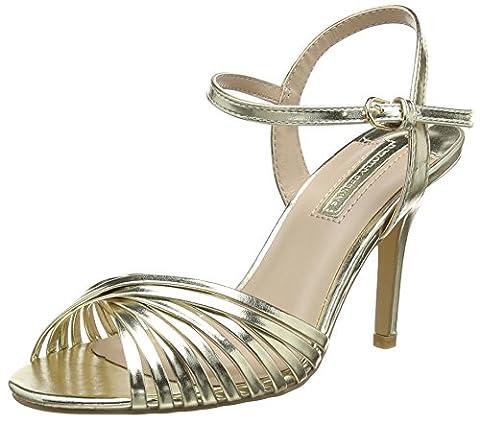 Dorothy Perkins Women's Spiral Twist Open-Toe Heels, Gold (Metallic), 4 UK 37 EU