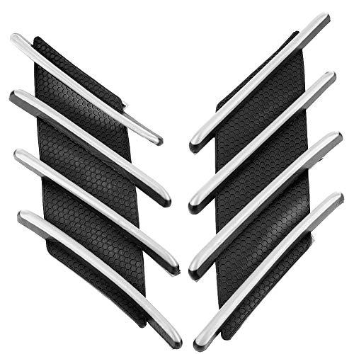 Motorrad Pad Protector, Motorrad Racing Kraftstoff/Öl/Gas Tank Decals Vinyl und Gel Aufkleber Anti-Rutsch-Pad(Schwarz und weiß)